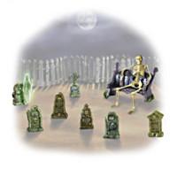 Ghoulish Gravestones Figurine Set