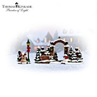 Thomas Kinkade Christmas Gate Village Accessory Set