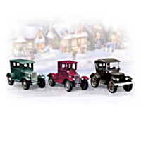 Roarin' Roadsters Vintage Cars Figurine Set
