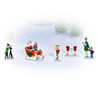 Pictures With Santa 5-Piece Village Accessory Figurine Set