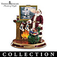 Thomas Kinkade Santa Figurine Collection