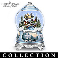 Thomas Kinkade Songs Of The Season Snowglobe Collection