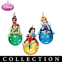 Disney Princess Sparkling Dreams Ornament Collection