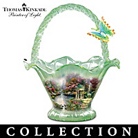 Thomas Kinkade Reflections Of Serenity Glass Bowl Collection