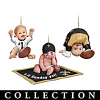 Born To Be A Saints Fan Ornament Collection