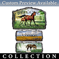 Persis Clayton Weirs Horse Art Personalized Welcome Sign