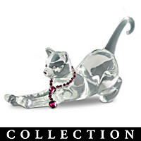 Fancy Felines Crystal Cat Figurine Collection