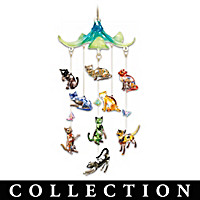 Fabulous Felines Hanging Sculpture Collection