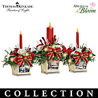 Thomas Kinkade Joy Of The Holidays Centerpiece Collection