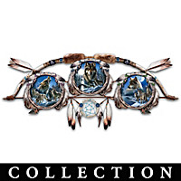 Glow-In-The-Dark Wolf Art Collector Plate Collection