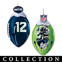 Seattle Seahawks FootBells Ornament Collection