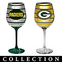 Green Bay Packers Wine Glass Collection