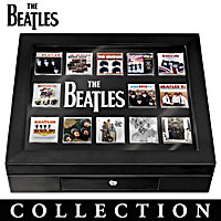The Beatles Album Cover Enameled Pin Collection With Display