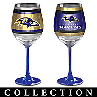 Baltimore Ravens Wine Glass Collection