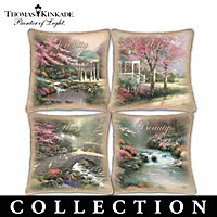 Thomas Kinkade Celebrate The Season Pillow Collection