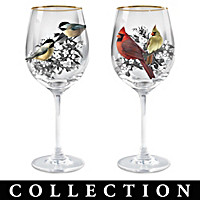 Birds And Blossoms Wine Glass Collection