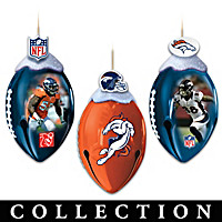 Denver Broncos FootBells Ornament Collection