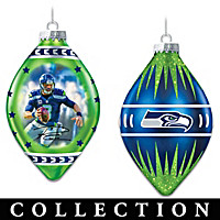 Seahawks Heirloom Glass Ornament Collection