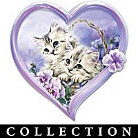 Purr-fect Love Heart Wall Decor Collection