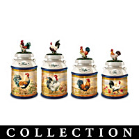 Country Morning Canister Table Centerpiece Collection
