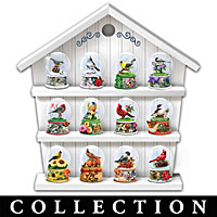 Songbirds Through The Season Miniature Snow Globe Collection