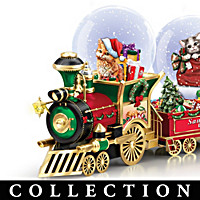 Jurgen Scholz Santa Claws Express Snowglobe Collection