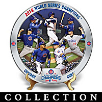 2016 World Series Champions Cubs Collector Plate Collection