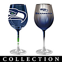 Seattle Seahawks Wine Glass Collection