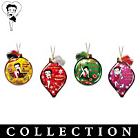 Sparkling And Sassy Betty Boop Christmas Ornament Collection
