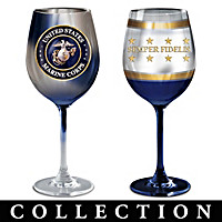 USMC Wine Glass Collection