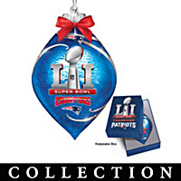New England Patriots Super Bowl Ornament Collection