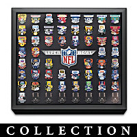 Super Bowl Pin Collection With Display & Replica Tickets