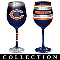 Chicago Bears Wine Glass Collection