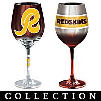Washington Redskins Wine Glass Collection