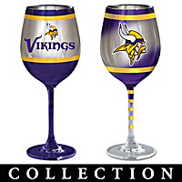 Minnesota Vikings Wine Glass Collection