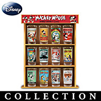 Disney Mickey Mouse Vintage Comic Glass Collection