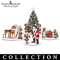 Thomas Kinkade Santa's Little Helpers Figurine Collection