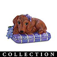 Pretty In Purple Dachshund Figurine Collection