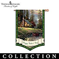 Thomas Kinkade Year Of Glad Tidings Flag Collection