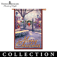 Thomas Kinkade Gateways Of Light Holiday Flag Collection