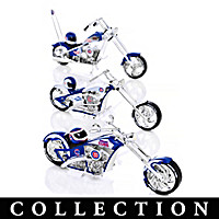 Chicago Cubs Motorcycle Figurine Collection