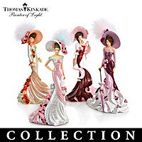 Thomas Kinkade Roses In Bloom Figurine Collection