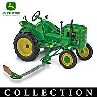 1:16-Scale John Deere Diecast Tractors With Plows Collection