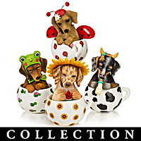 Cups Of Affection Dachshund Figurine Collection