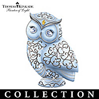 Thomas Kinkade Crystal Owls Of Elegance Figurine Collection
