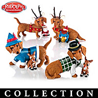 Happy Howl-idays Dachshund Figurine Collection