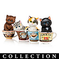Kayomi Harai Coffee Cats Figurine Collection