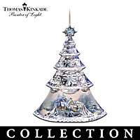 Thomas Kinkade Annual Faceted Crystal Ornament Collection