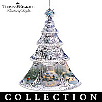 Thomas Kinkade Crystal Holidays Ornament Collection