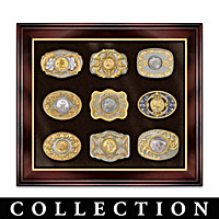 Wild West Gold And Silver Belt Buckle Collection